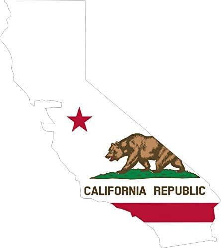 Californian State Flag Sticker Decal Bumper CA California State 2 Pack 5in