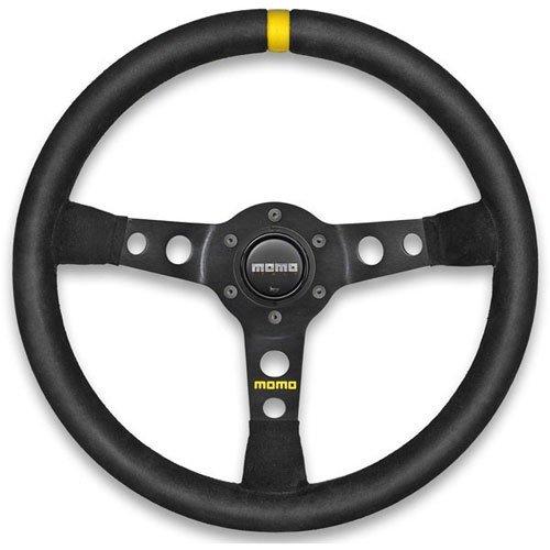 MOMO R1905/35S Mod 07 Steering Wheel Diameter: 350mm/13.78 Black Suede/Black Spo