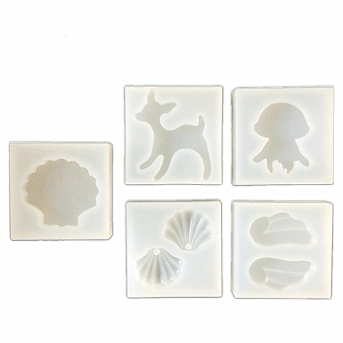 resin shell earrings - 3