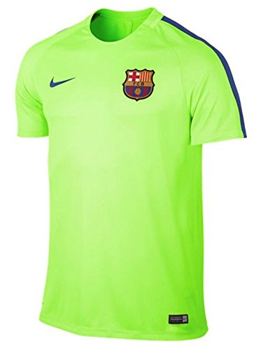 Nike Men's Dry Squad Top FC Barcelona Training Jersey (Large) Ghost Green