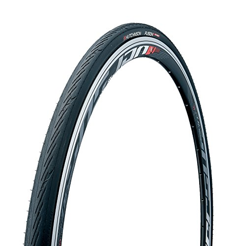 Hutchinson New 2018 Fusion 5 All-Season Tubeless and Tubeless Ready Bike Tire with The New ElevenSTORM Compound (700 x 25 Tubeless Ready), Black ()