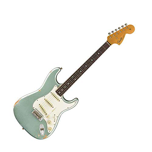 Fender Custom Shop 2019 Time Machine 1967 Stratocaster Relic Aged Firemist Silver ()