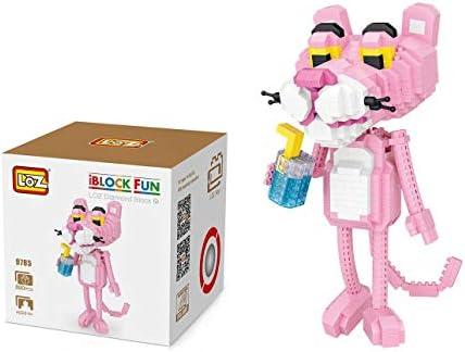 Outletdelocio. LOZ 9785. Kit de construccion miniaturizada. Pantera Rosa. 890 Piezas. 17cm Altura: Amazon.es: Juguetes y juegos
