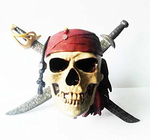 Festival Carnival Celebration Props Halloween Accessory Decoration Masquerade Scary Skull Pirates of the Caribbean Model (Skull Halloween Decoration)