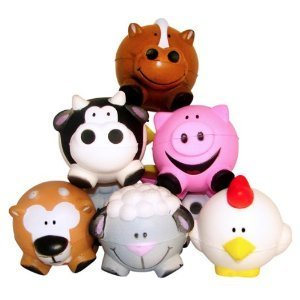 Fun Express Farm Animal Relaxable Balls (1 Dozen)