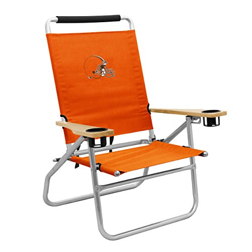 NFL Cleveland Browns Beach Chair, One Size, Orange by Logo Brands