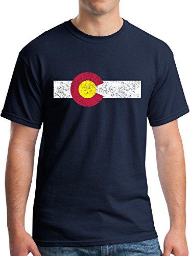 New York Fashion Police Colorado State Flag T-Shirt - Vintage Style Rocky Mountain Pride
