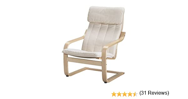 Amazon.com: Ikea Poang Chair Armchair With Cushion, Cover And Frame:  Kitchen U0026 Dining