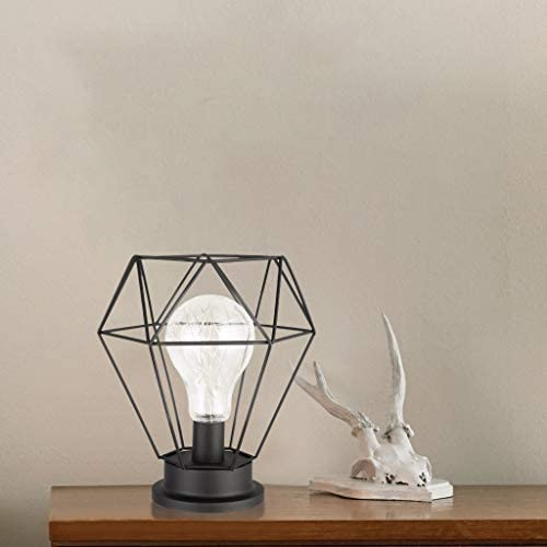 NEW INDUSTRIAL LOOK FREESTANDING BATTERY OPERATED LAMP LIGHT BULB INCLUDED