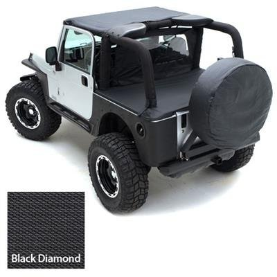 Smittybilt Standard Bikini Top Combo For Jeep Wrangler 1997 06   Includes  Black Diamond Bikini