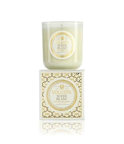 Amazoncom Voluspa Suede Blanc Classic Maison Candle 100 Hour 12