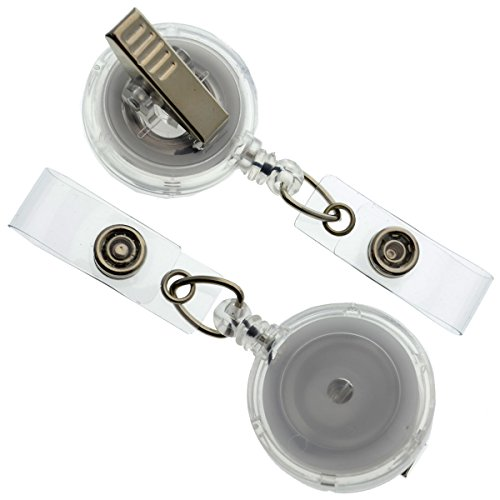 Clear Badge Reel (Translucent) with Swivel Spring Clip by Specialist ID, Sold Individually