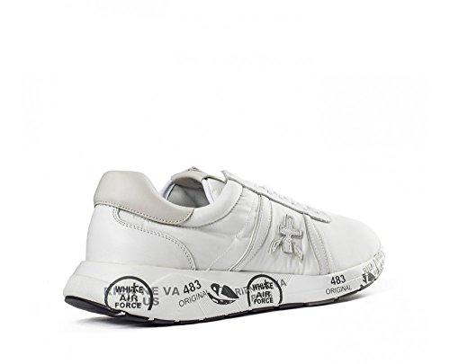 PREMIATA Herren MATTEW2829 Weiss Leder Sneakers