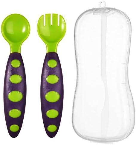 Juego de 2 piezas con cuchara para bebé, tenedor, cubiertos con ...