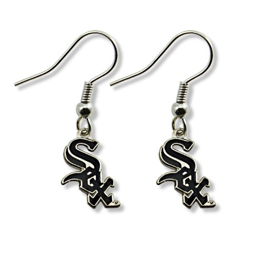 MLB Chicago White Sox Logo Dangler Earrings