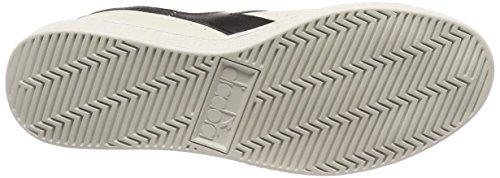 Diadora Men's Game L Low Gymnastics Shoes, Bianco Off White (Bianco Nero Bianco)