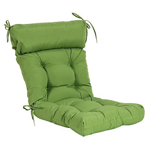 QILLOWAY Indoor/Outdoor High Back Chair Cushion,Spring/Summer Seasonal Replacement Cushions. (Green) (Cushions Summer Furniture)