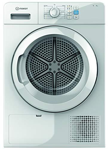 Secadora – Indesit YT CM08 8B EU, Condensación, Libre instalación, 8 Kg, 15 programas, Blanco
