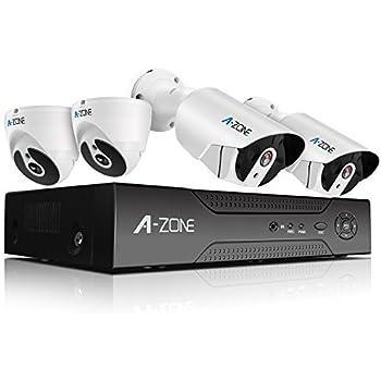 Amazon com : A-ZONE Full HD-TVI Security Camera System 4