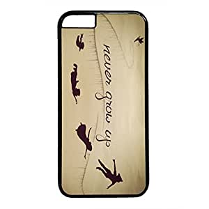 iPhone 6 Cases, iPhone 6 Cases, Never Grow Up, Fairies, Case for iPhone 6 -- Black Plastic Case