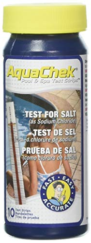 (AquaChek 561140A Salt Water Swimming Pool Test Strips - White)