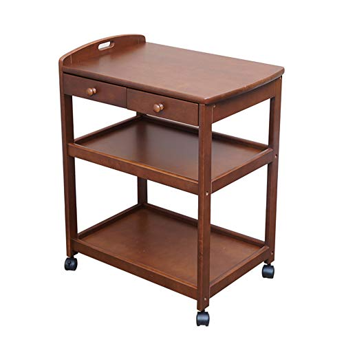 Shelves MEIDUO Utility Carts Rolling Cart Wooden Rolling Sto