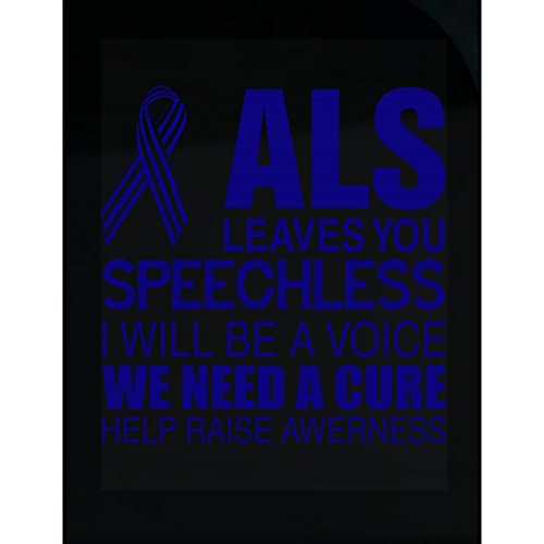 T-shirts Als Cure (AttireOutfit ALS Leaves You Speechless We Need Cure Help Raise Awareness - Sticker)