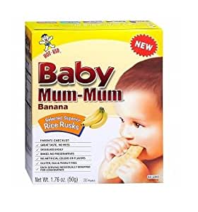 Hot-Kid Baby Mum-Mum Banana Flavor Rice Biscuit, 24-pieces