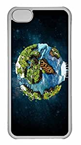 iPhone 5C Case, Personalized Custom Earth Different Perspective for iPhone 5C PC Clear Case