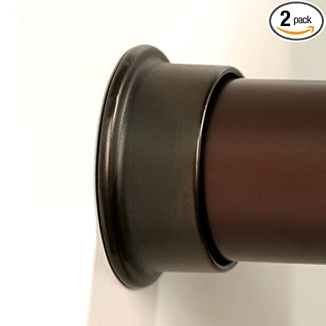 Round Closet Rod Flanges   Oil Rubbed Bronze