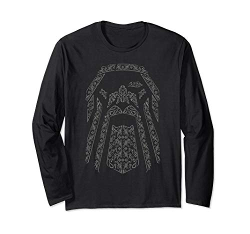 ba68cb5b Odin viking god valhalla norse all father raven eye king Long Sleeve T-Shirt
