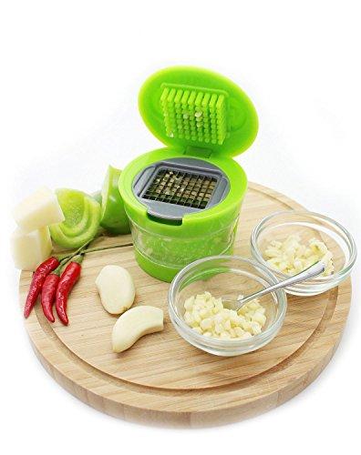 UDTEE 1Pcs Multifunctional BPA-Free Plastic Easy Garlic Press Ginger Chopper