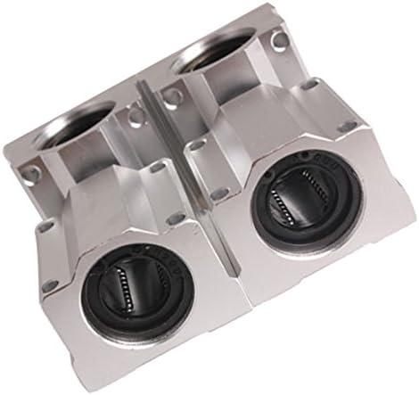 Sandis 4 Pcs SC20UU 20mm Aluminium Mouvement lineaire support de roulement Block coulissant pour CNC