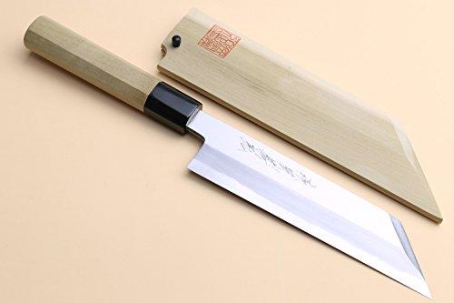 Yoshihiro Shiroko High Carbon Steel Kasumi Kenmuki Japanese Utility Chef Knife 4.75inch (120mm) by Yoshihiro