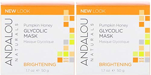 (Andalou Naturals Brightening Pumpkin Glycolic Mask (Pack Of 2) With Aloe vera, Manuka Honey, Sunflower, Meadowfoam, Apple, Vitamin C, Pineapple, Lemon, Nutmeg, Roobois, Clove and Cinnamon, 1.7 oz. eac)