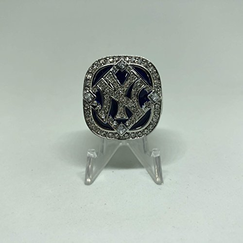 2009 World Series Ring - 2009 New York Yankees Derek Jeter World Series High Quality Replica Ring Size 9.5-Silver Colored