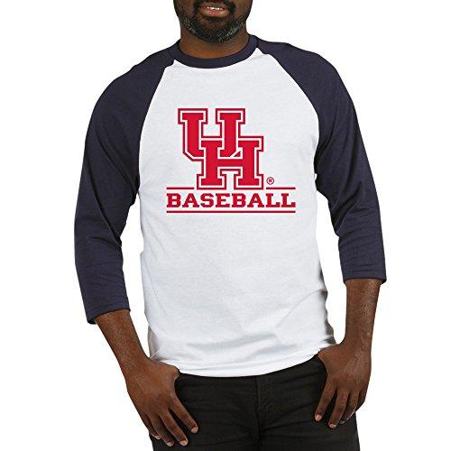 CafePress Houston Cougar Baseball Cotton Baseball Jersey, 3/4 Raglan Sleeve Shirt Blue/White ()