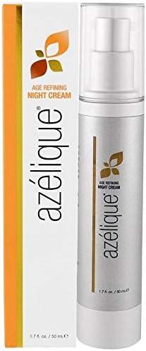 Azelique, Age Refining Night Cream with Azelaic, Glycolic and Hyluronic acids No Parabens, No Sulfates, 1.7 fl. oz