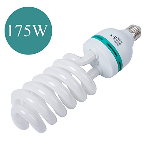 Photography Compact Fluorescent CFL 175W Daylight Balanced Bulb with 5500K Color Temperature for Photography & Video Studio Lighting by G-raphy