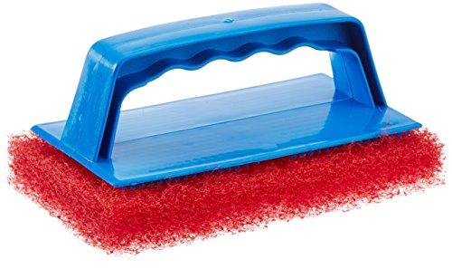 (Star brite Scrub Pad with Handle (Medium) (Red))