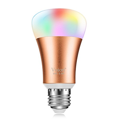 Price comparison product image Voion WiFi Smart LED Bulb,  Works With Alexa,  Dimmable LED Light Bulb,  Tunable Multicolor,  5.5W,  Energy Saving,  1-Pack
