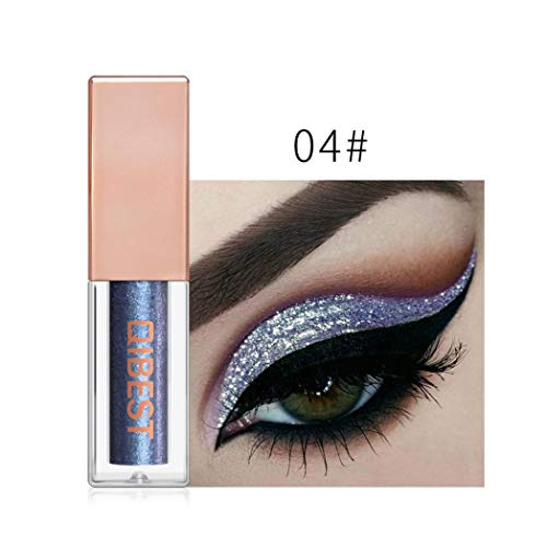 HP95 16 Colors Liquid Eyeshadow Glitter Waterproof Eyeliner Shimmer Metallic Shiny Smoky Eye Shadow (04#)