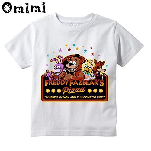 - KoreaFashion FNAF Shirt Cotton Merch Shirts for Kids Youth Birthday Welcome Funny Nightmare Shirt