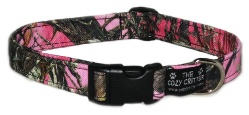 - Cozy Critter Pink Mossy Camouflage Standard Dog Collar - Large