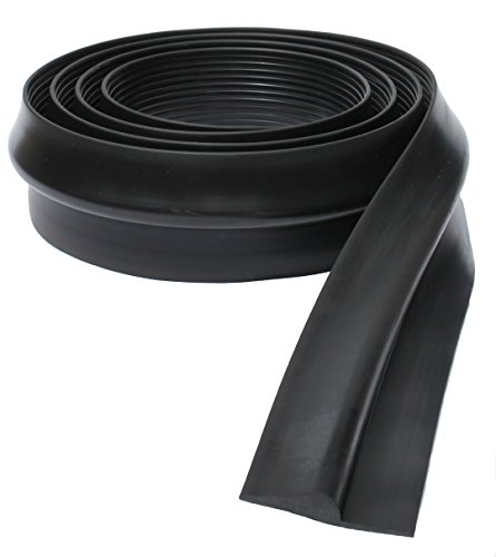 Vat Industries - Weather Stripping Seal for Garage Door Threshold - 11/16 Inch Thick 20 Feet Length Black Garage Door Threshold Seal