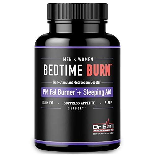 Dr. Emil - PM Fat Burner, Sleep Aid and Night Time Appetite Suppressant - Stimulant-Free Weight Loss Pills and Metabolism Booster for Men and Women (60 Vegan Diet Pills) (The Best Healthy Diet To Lose Weight Fast)