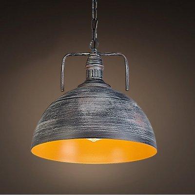 ding 12''Width Industrial 1 Light Galvanized Iron Dome Pendant