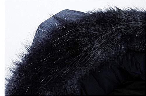 Taglie Pelliccia Esterna Comode Con Abiti In Parka Hx Giacca Da Uomo Trapuntato Cappuccio Addensato Fashion Schwarz Invernale zC6q8v