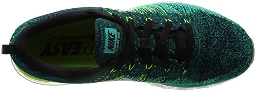 Nike air max flyknit 620469 Scarpe da corsa da uomo, scarpe da ginnastica black white clear jade volt 013