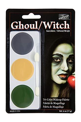 Womens Halloween Witch Makeup (Mehron Makeup Tri-Color Halloween Makeup Palette)